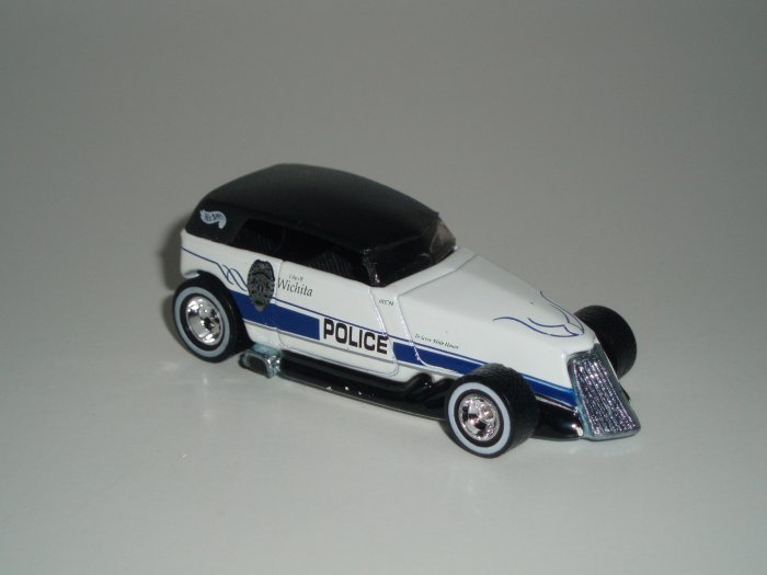 Hot Wheels K-B Toys Cop Rods Series 2 Phaeton White Real Riders 1/64 scale Loose