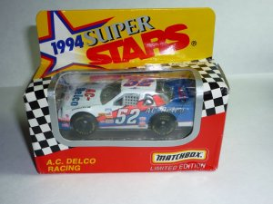 1994 Series II White Rose Collectibles Matchbox Super Stars A.C. Delco #52