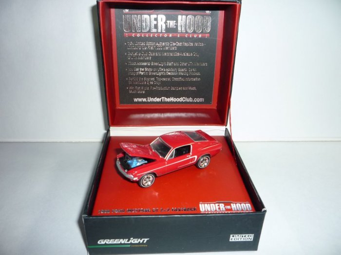 Greenlight Collectibles Under The Hood Collector's Club '68 Mustang GT 2+2 Fastback...Red