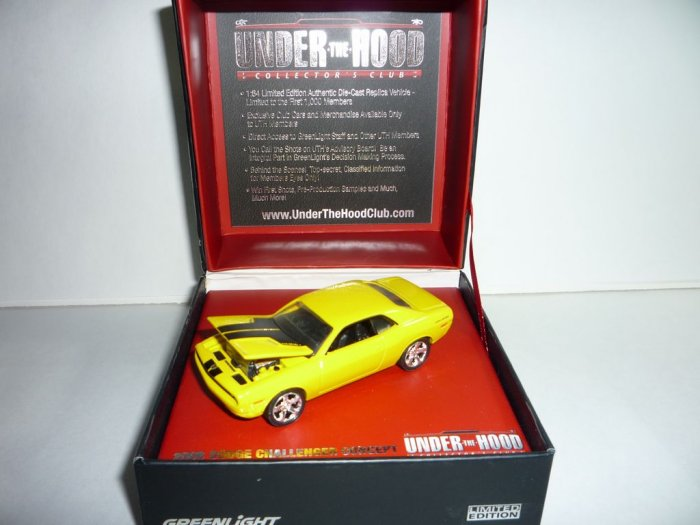 Greenlight Collectibles Under The Hood Collector's Club 2006 Dodge Challenger Concept...Yellow