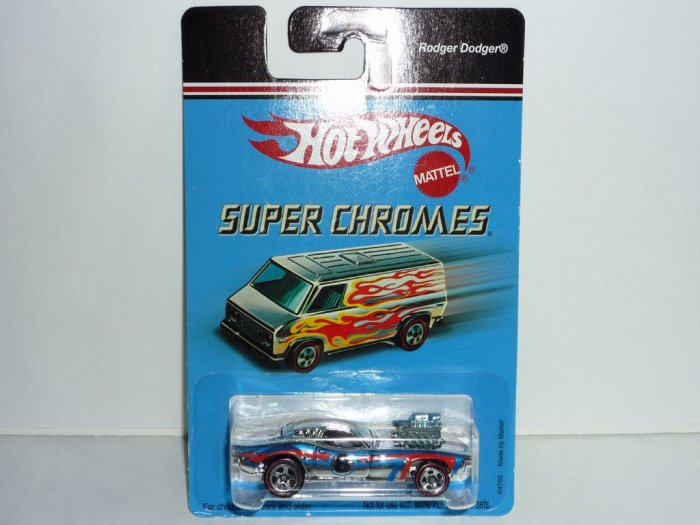 2006 Hot Wheels Super Chromes Series Rodger Dodger...Chrome