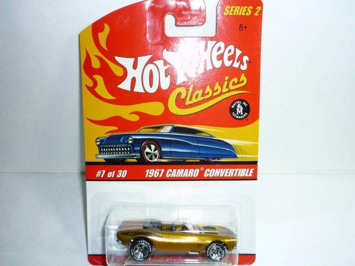 Hot Wheels Classics Series 2 1967 Camaro Convertible...Gold
