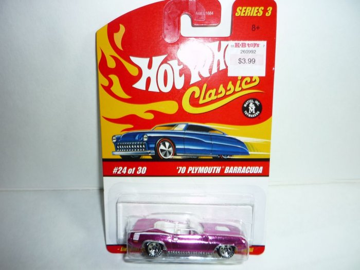 Hot Wheels Classics Series 3 '70 Plymouth Barracuda...Pink