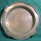 Lawrence B. Smith Co Silver Plate Round Platter Vintage Heavy Art Deco Serving Tray