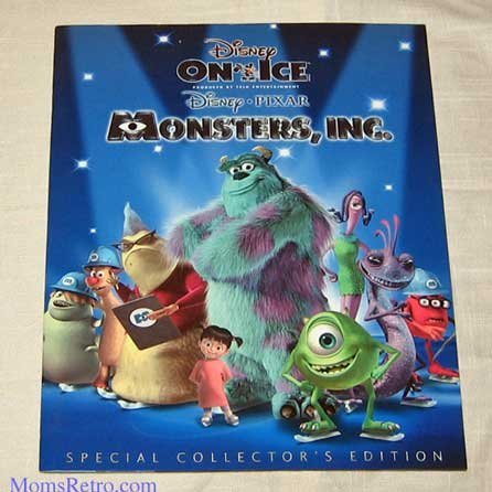 Disney/PIXAR Monsters Inc. Live Show Program Mike Sully Boo Disney On Ice