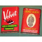 Velvet Pipe Tobacco and Prince Albert in a Can Vintage Decor Tins
