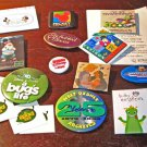 Huge lot of 12 Disney Buttons OOP, Rare, Cast Members Exclusive & LE