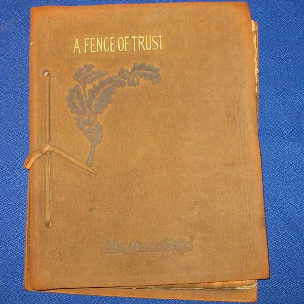 A Fence Of Trust By Mary Frances Butts Vintage Leather-Bound Poetry Book