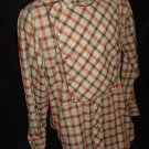 Vintage 60s H BAR C Pearl Snap Western Shirt Sz S Small