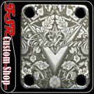 (C0004) CHROME 4 BOLT GUITAR/BASS NECK PLATE