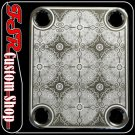 (C0013) CHROME CUSTOM ENGRAVED GUITAR/BASS STANDARD NECK PLATE