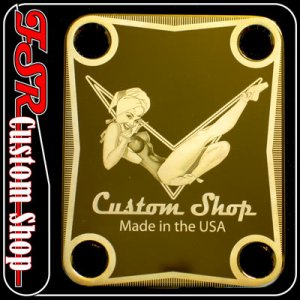 (G0003) GOLD VINTAGE PIN-UP/PINUP fit telecaster/stratocaster