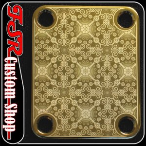 (G0006) GOLD 4 BOLT GUITAR/BASS NECK PLATE