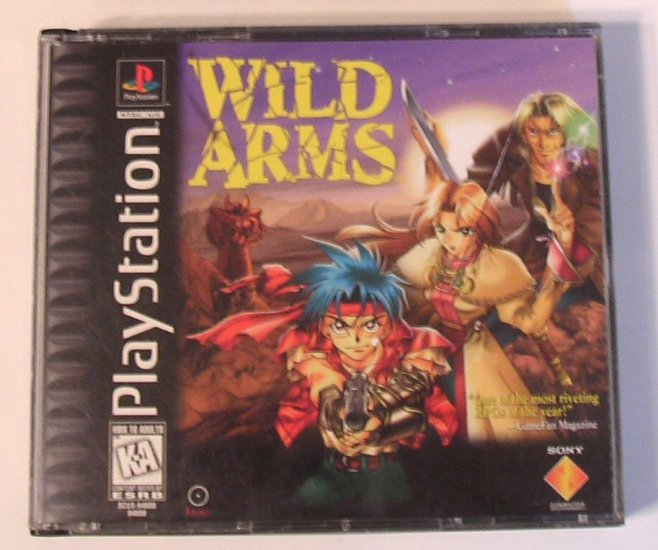 WILD ARMS Video Game Sony Playstation Video Game RPG Video Game Complete with Instructions