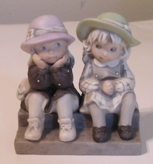 SOLD Kim Anderson Figurine WE'RE TWO OF A KIND 1995 Enesco Figurine 175358 SOLD