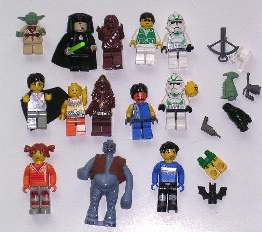 Lot of Lego Mini Figs / Starwars Mini Fig  Lego Harry Potter / Lego Yoda / Lego Building Block