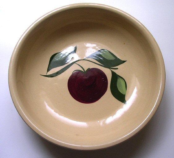 Vintage Watt Pottery Apple Bowl Pasta Spagetti Bowl # 24 Watt Oven Ware