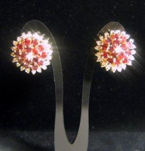 FACETED Ruby Cubic Zirconia Gemstone QUARTZ Studs