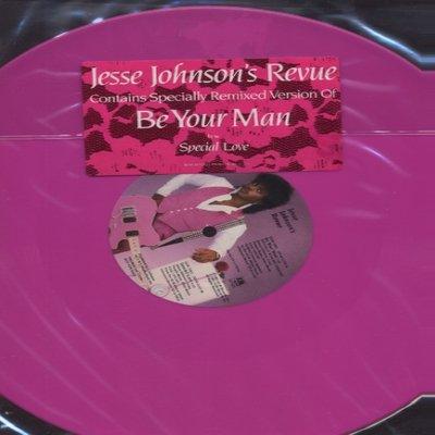 Jesse Johnson Be Your Man - Pink Vinyl Promo1