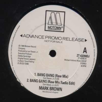 """Mark Brown Bang Bang Promo12"""""""" Single"""