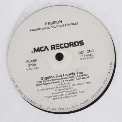 "Passion Gigolos Get Lonely Too Promo12"""" Singl"
