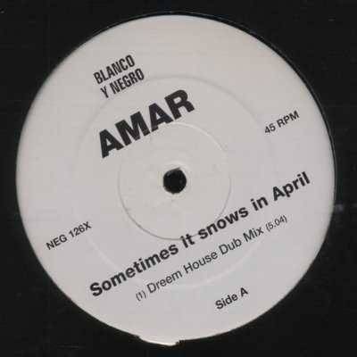 "Amar Sometimes It Snows In April Promo12"""" Sin"