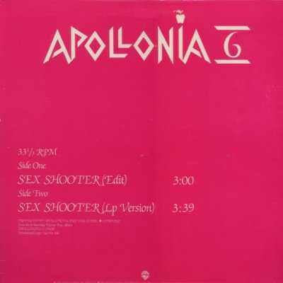 "Apollonia 6 Sex Shooter Promo12"""" Single"