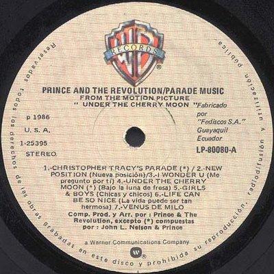 Prince Parade - Ecuador LP