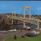 Tamar Bridge, Plymouth Postcard  Cars and Bridges