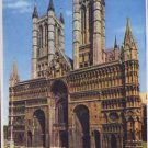 Lincolin Cathedral. West End Postcard Water Scot