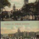 New Royal Infirmary and Picadilly and Infirmany Manchester Postcard