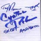 Cynthia Robinson - Autograph - Cynthia Robinson From Sly & The Family Stone - UK