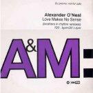 "Alexander O'Neal - Love Makes No Sense - UK Promo  12"" Single - AMXDJ7708 ex/ex"