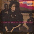 """Janet Jackson - Let's Wait Awhile - UK   7"""" Single - USA601 vg/ex"""