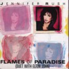 "Jennifer Rush - Flames Of Paradise - UK 7"" Single - 650865-7 m/m"