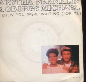 "Aretha Franklin & George Michael - I Knew You Were Waiting (For Me) - UK 7"" Sin"