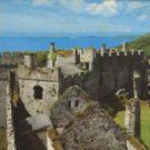COAST AND CASTLE MANOBRIER POSTCARD WALES