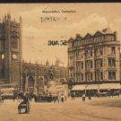 "MANCHESTER CATHEDRAL Postcard Boots Cash Chemist ""Pelham Series"" 1912"