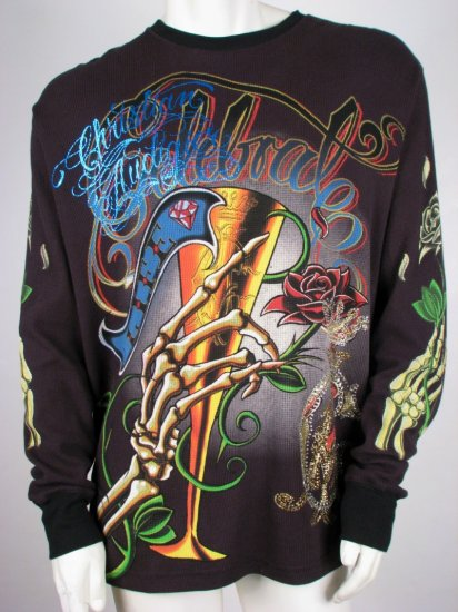 CHRISTIAN AUDIGIER Stoned CHEERS Thermal Shirt, XL