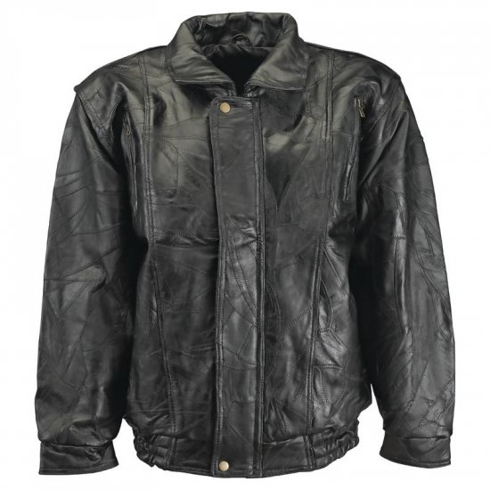M - Maxam® Brand Italian Mosaic� Design Genuine Top Grain Lambskin Leather Jacket