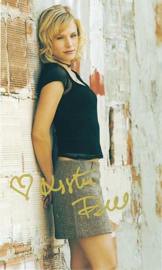 Kristen bell Pre-print  autograph