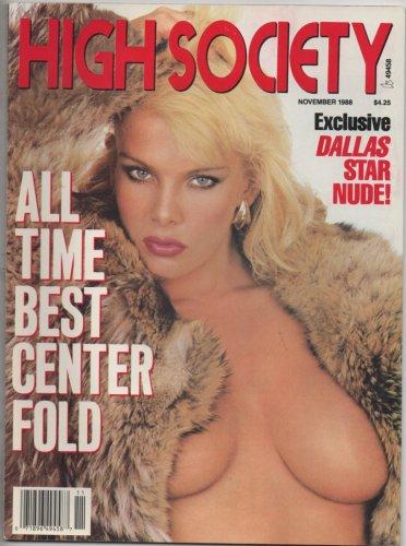HIGH SOCIETY Magazine November 1988 Andrea Clarke Nikki Knights Aja Sharon  Mitchell Thora