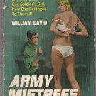 Army Mistress by William David Vintage Sleaze Paperback 1970 MacFadden Bartell