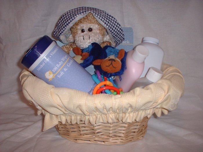 Stuffed Baby Basket