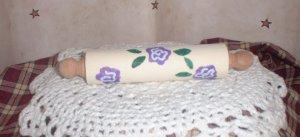 Mini Purple Flower Rolling Pin