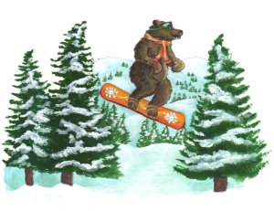 Bear Snowboarding