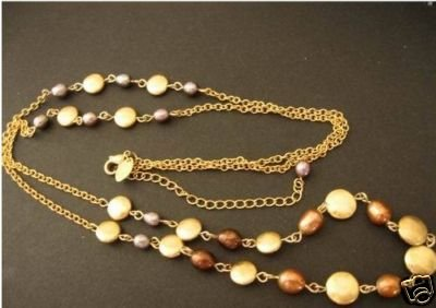 """Chai - Genuine Fresh Water Pearl necklace 36""""-39"""""""