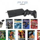 Slim Sony Playstation 2 Basic Bundle - 30+ Games With Wireless Controller And More!