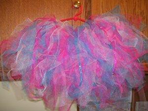 pink/ shocking blue tutu