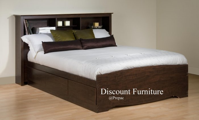 FULL MATES BEDROOM SET IN 5 COLORS BED & HEADBOARD BY PREPAC